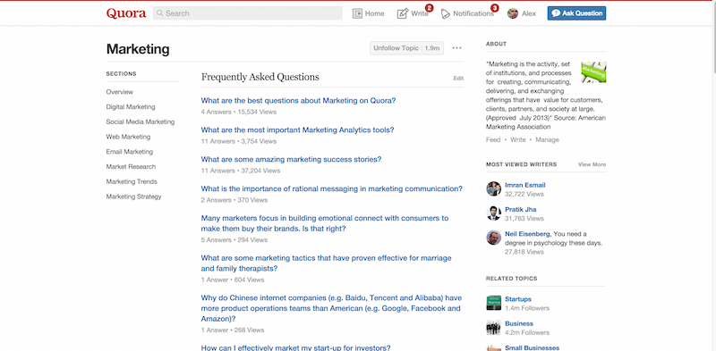3 Marketing Quora