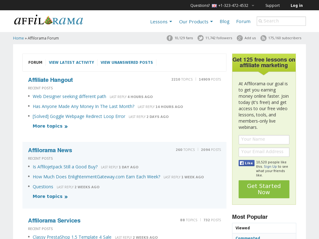 Affilorama Forums Homepage