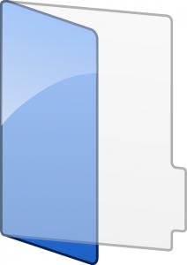 Blue Folder Art