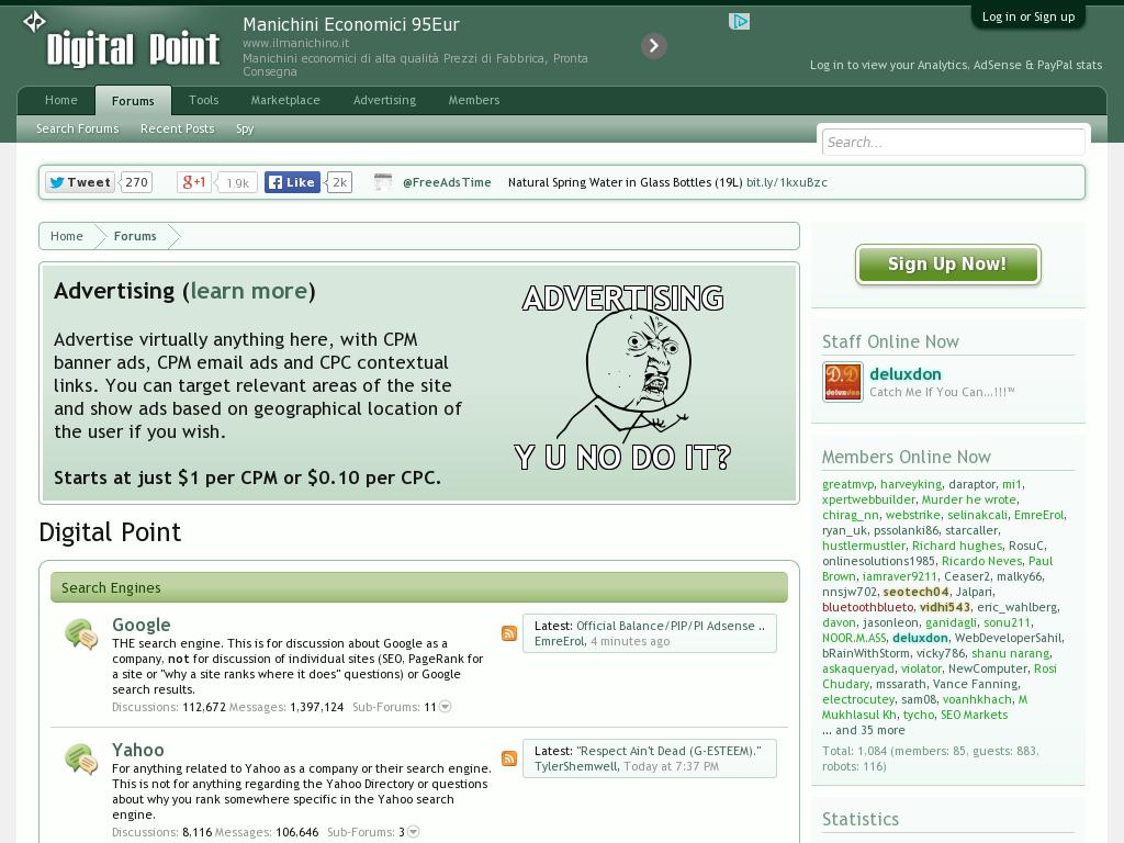 DigitalPoint Forums Homepage