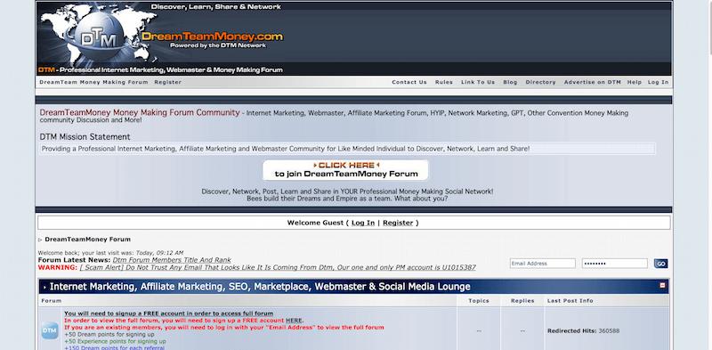DreamTeamMoney Internet Marketing Forum   Webmaster  HYIP  Forex  Network Marketing  E Currency  Money Making Forum