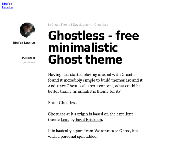 Ghostless Theme