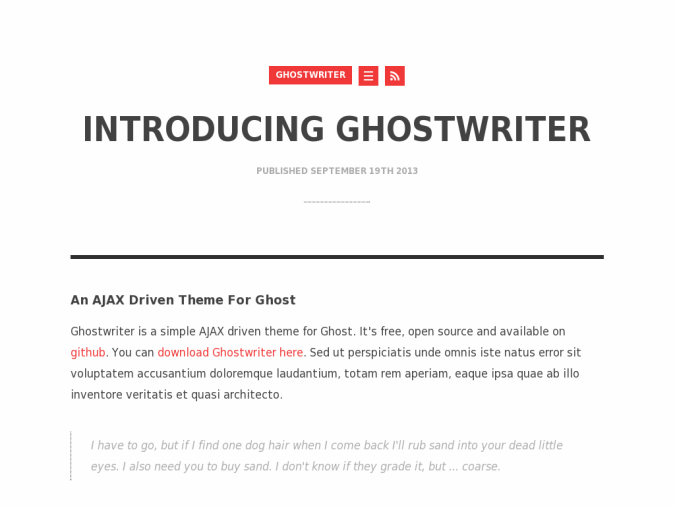 Ghostwriter Theme