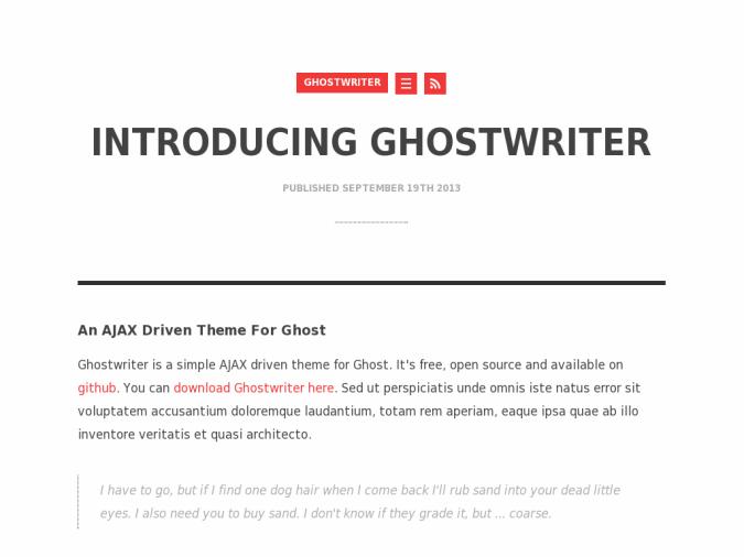 Ghostwriter Theme