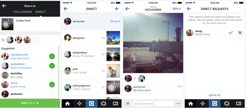 How Instagram Direct Works
