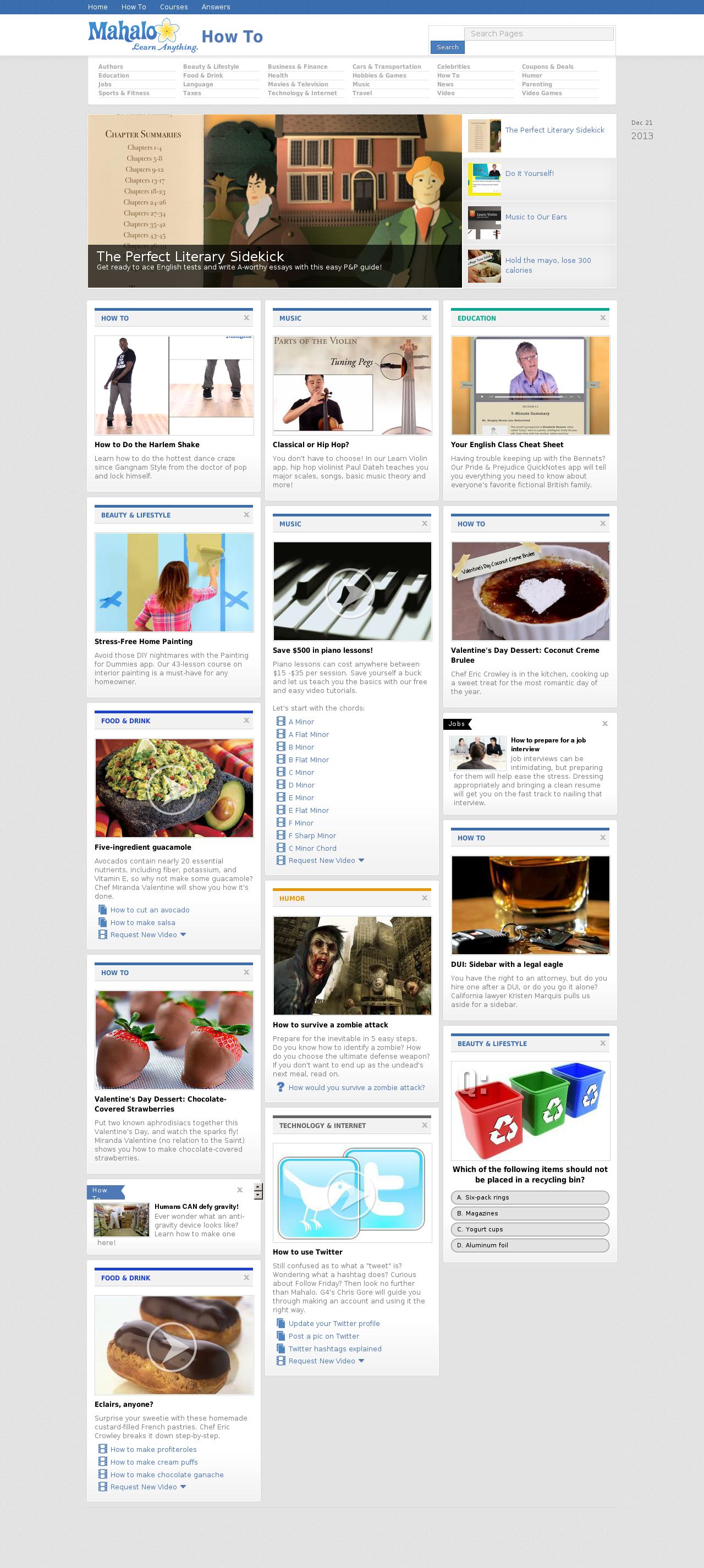 Mahalo Homepage