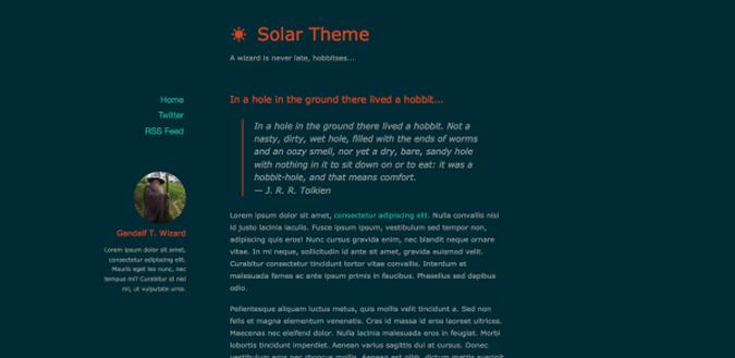 Solar Theme