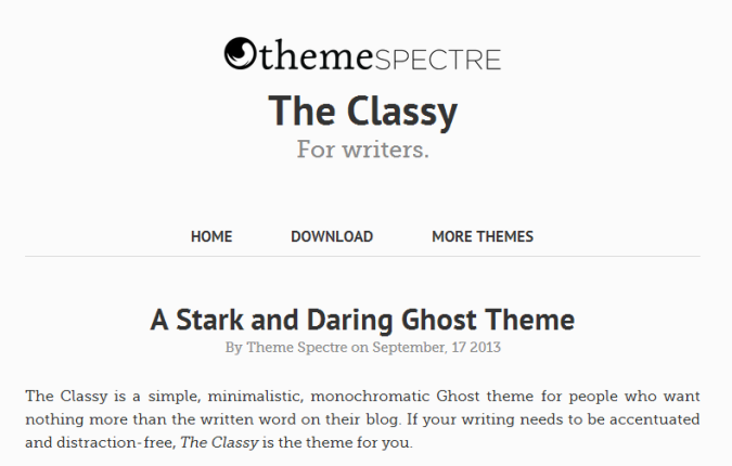 The Classy Theme