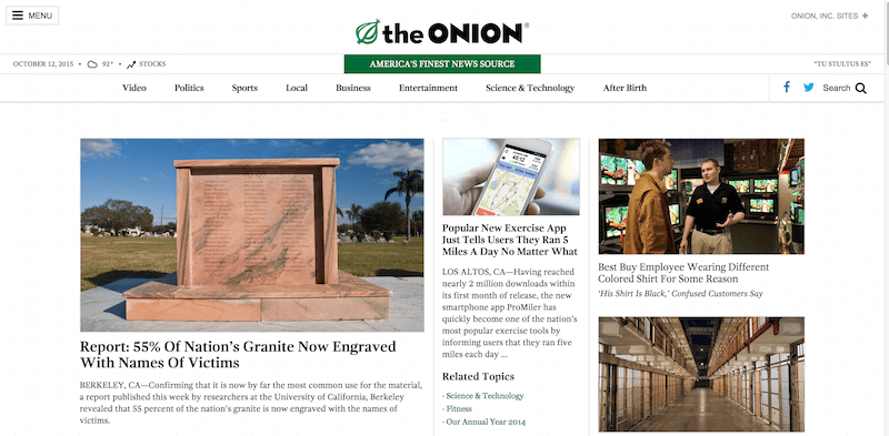 The Onion   America s Finest News Source