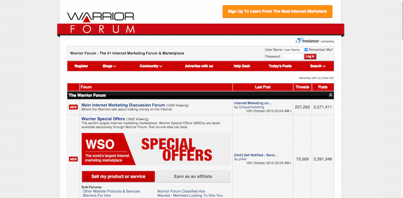 Warrior Forum The 1 Internet Marketing Forum Marketplace