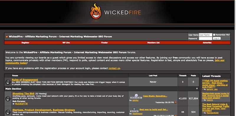 WickedFire   Affiliate Marketing Forum   Internet Marketing Webmaster SEO Forum