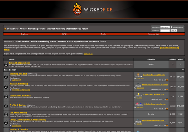 WickedFire Homepage
