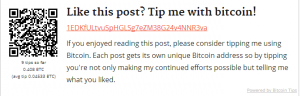WordPress Bitcoin Tips Plugin