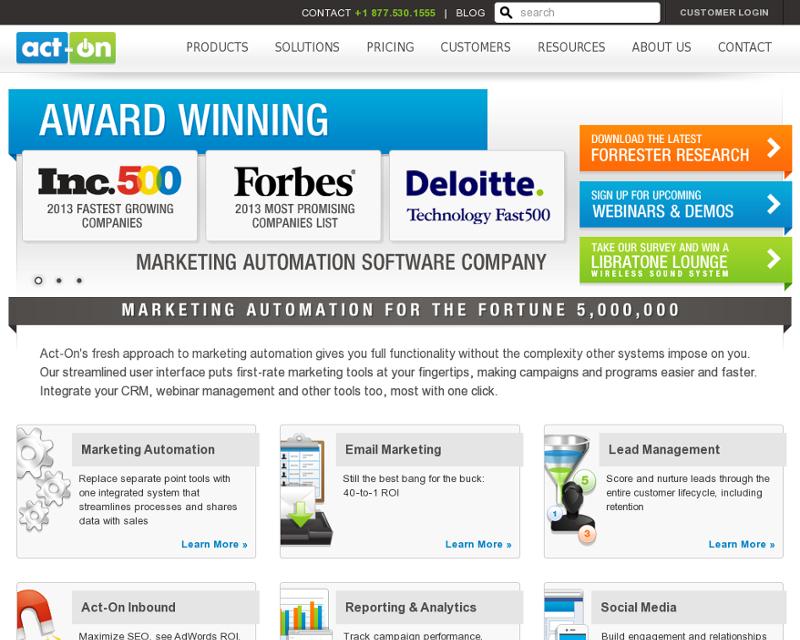 Act-On.com Homepage
