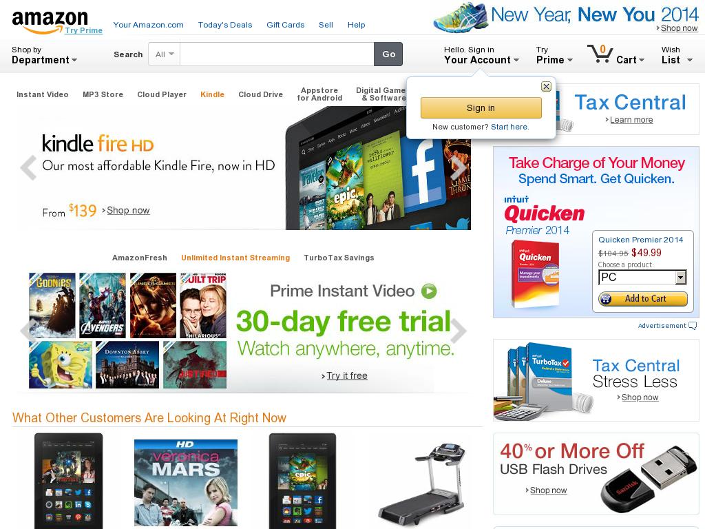 Amazon.com Homepage