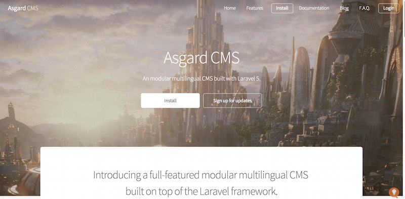 AsgardCms A laravel CMS that s modular and multilingual