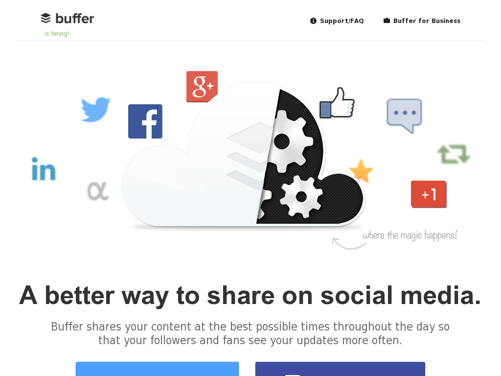 BufferApp Homepage