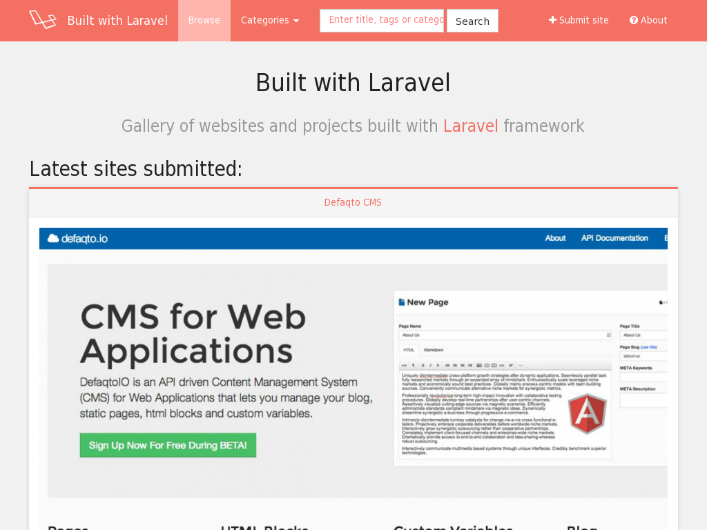 Built with Laravel