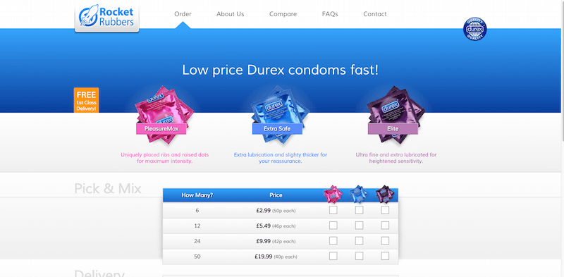 Cheap Condoms Rocket Rubbers Buy Condoms Online