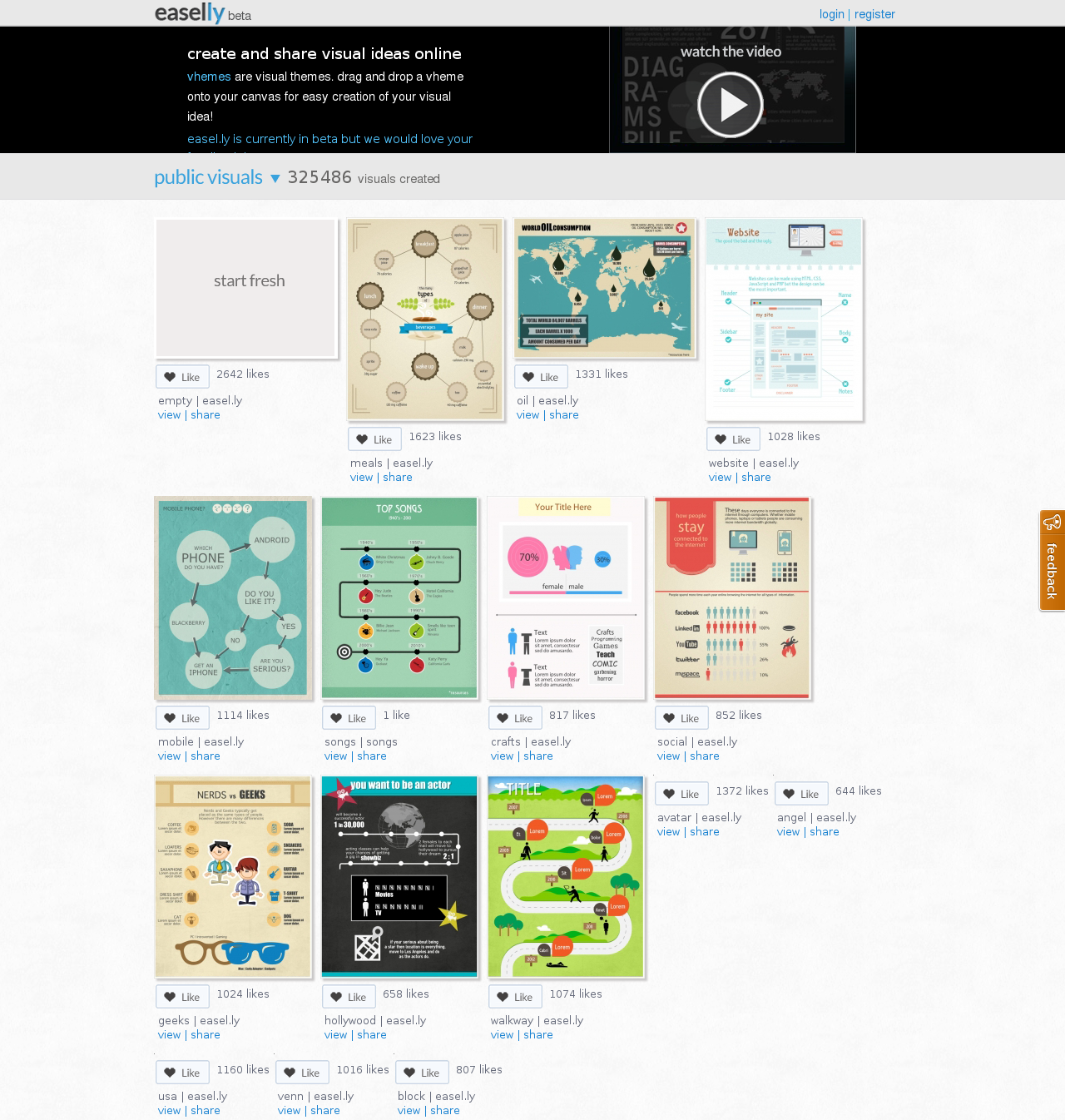 Easel.ly Homepage