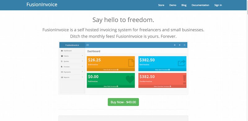 FusionInvoice Self hosted invoicing for freelancers and small businesses