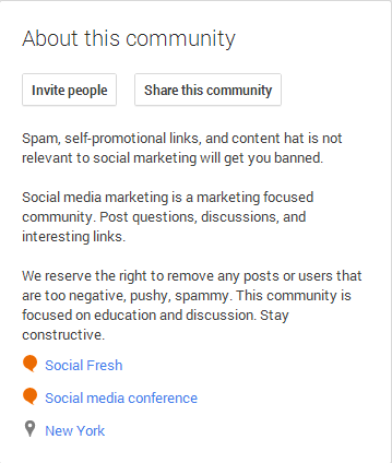 Google+ Community Rules
