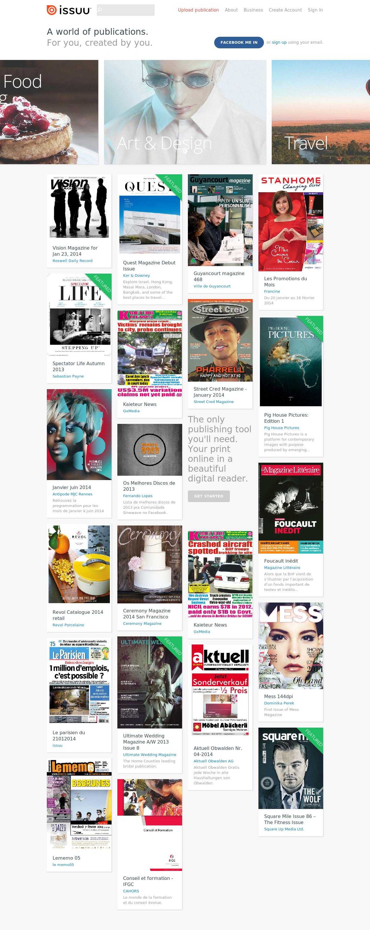 Issuu Homepage