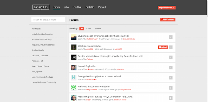 Laravel.io The Laravel Community Portal