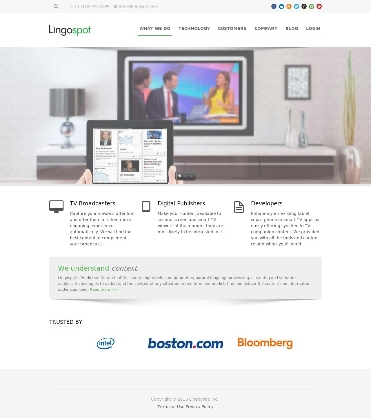 Lingospot Homepage