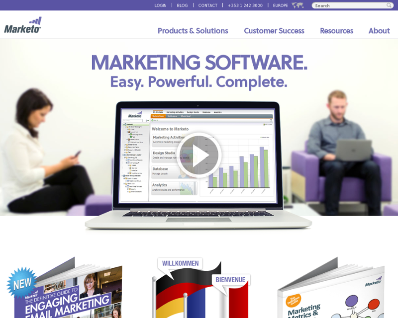 Marketo.com Homepage