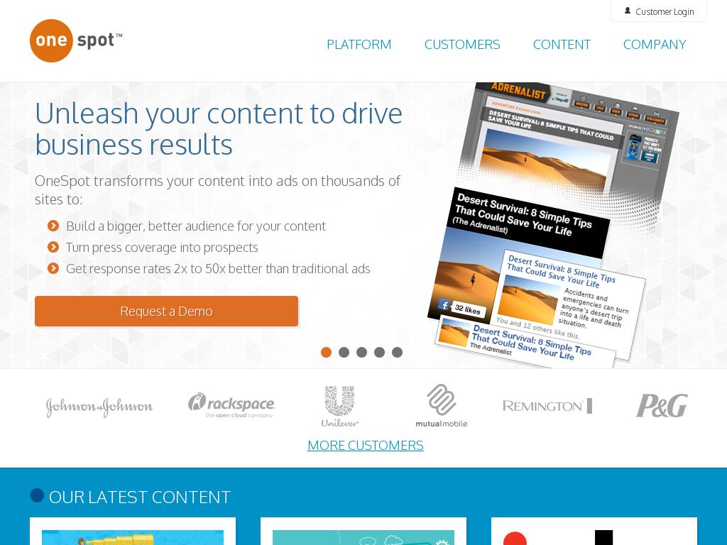 OneSpot Homepage