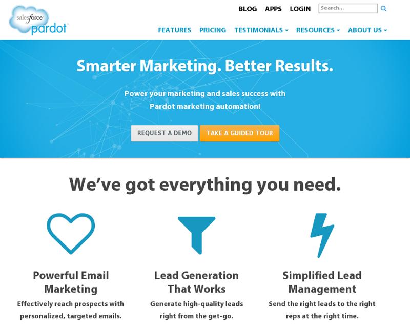 Pardot.com Homepage