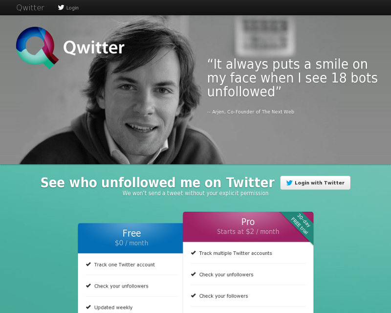 Qwitter Homepage