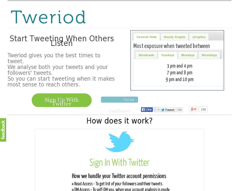 Tweriod Homepage