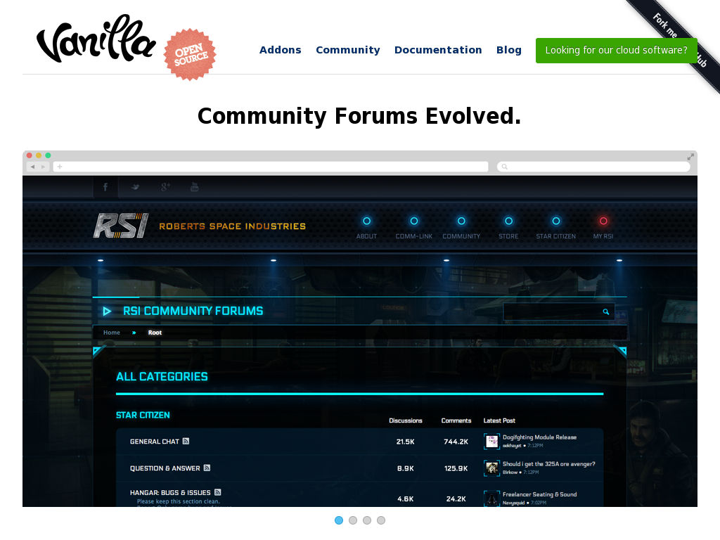 Vanilla Community Homepage