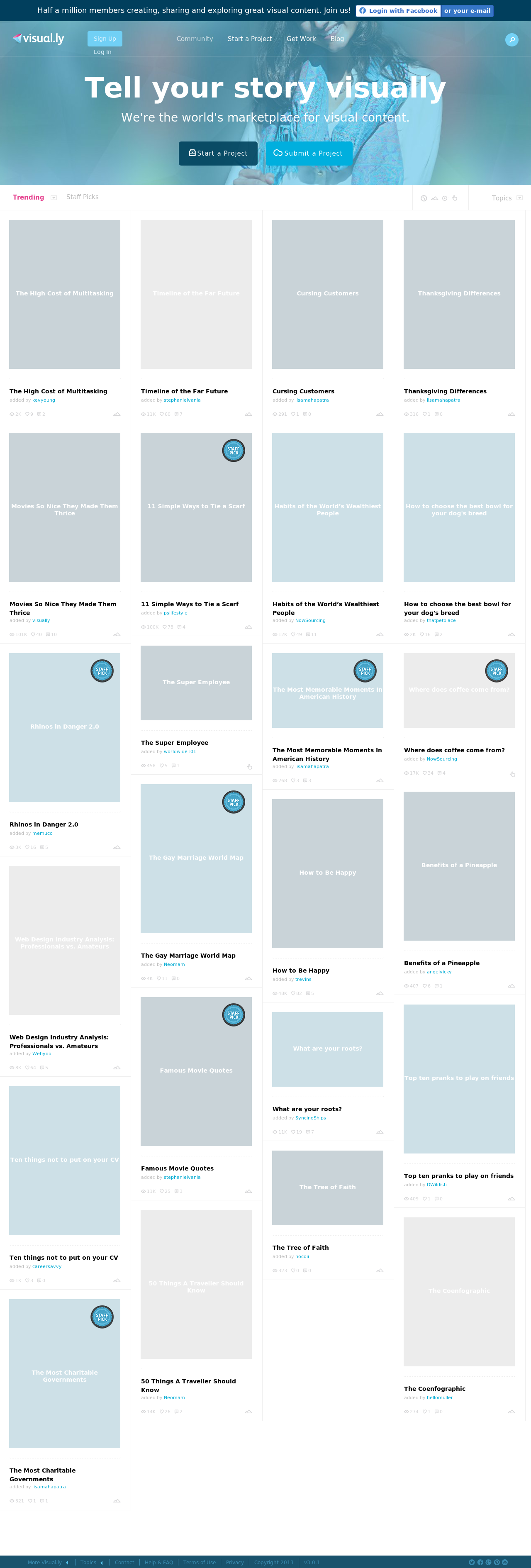 Visual.ly Homepage