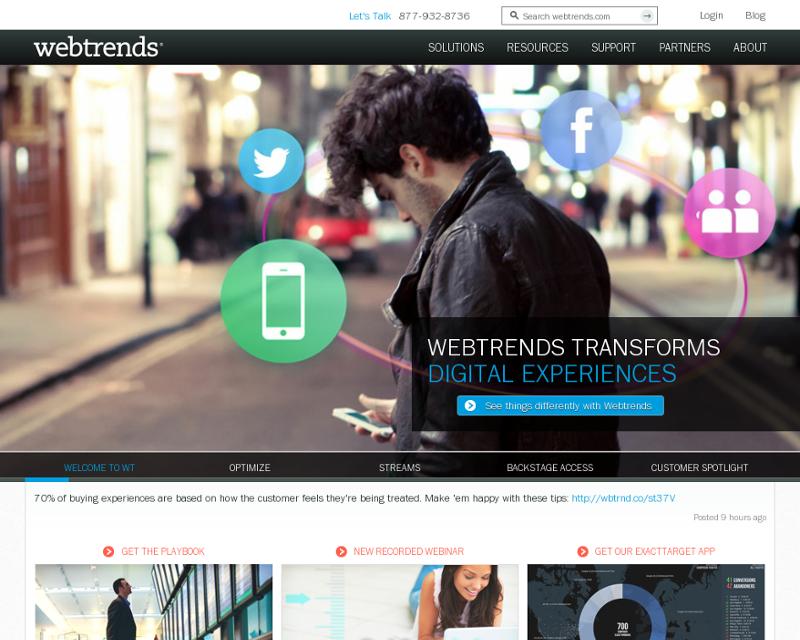 Webtrends.com Homepage