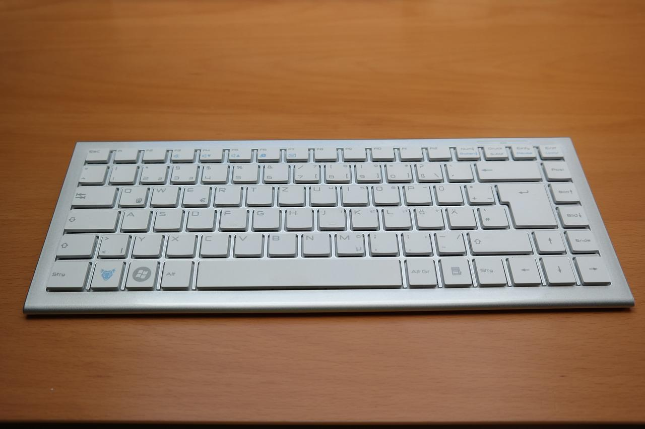 White Keyboard, Elegant, Modern