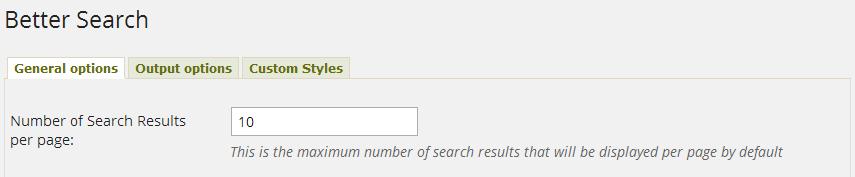 WordPress Better Search