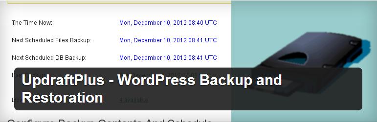 WordPress UpdraftPlus Plugin