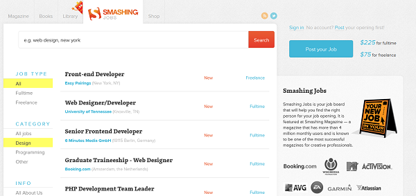 All Design Jobs - Smashing Jobs