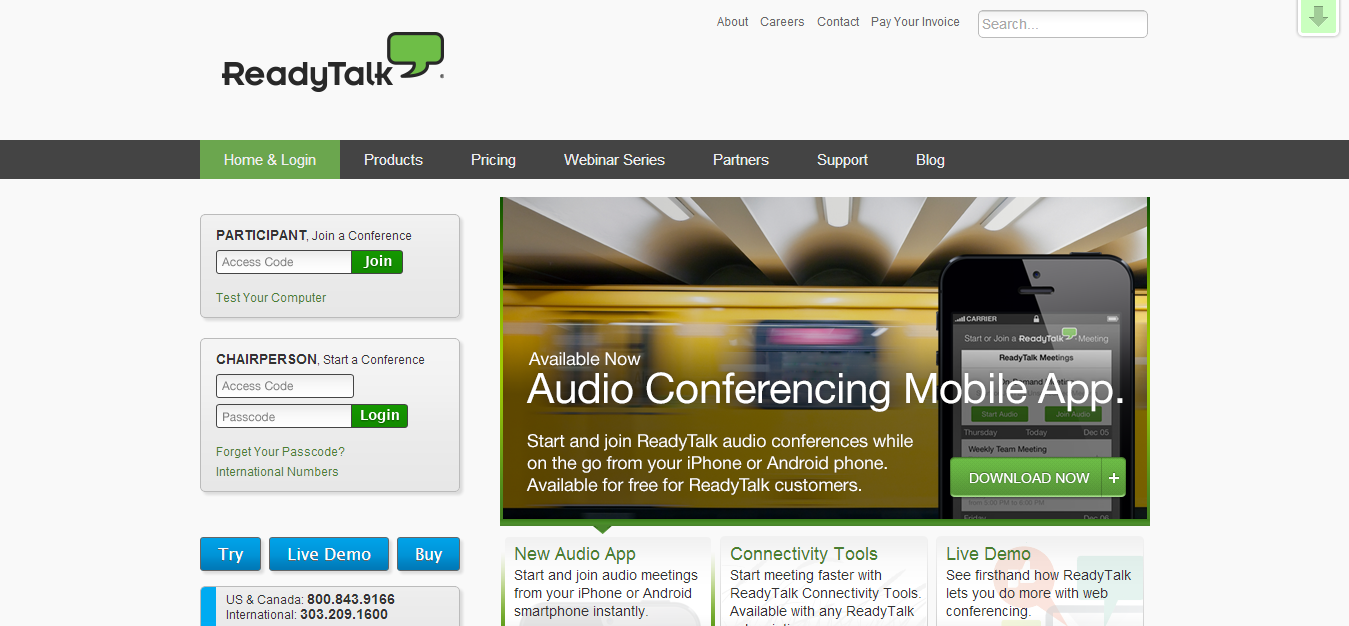 Audio and Web Conferencing   Online Web Meeting   ReadyTalk