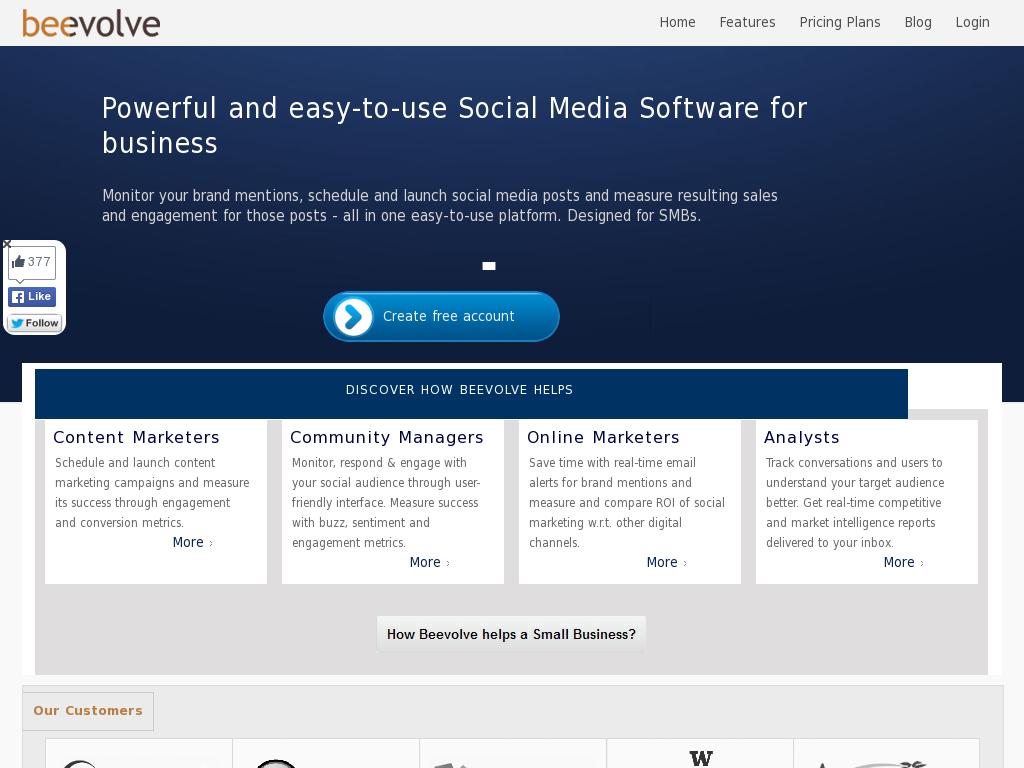Beevolve - Social Media ROI & Social Media Analytics