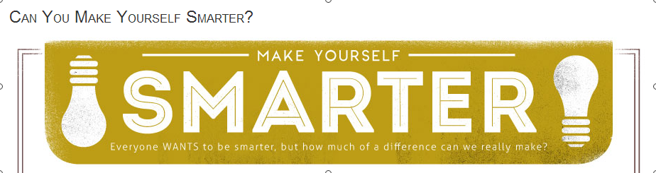 Can You Make Yourself Smarter