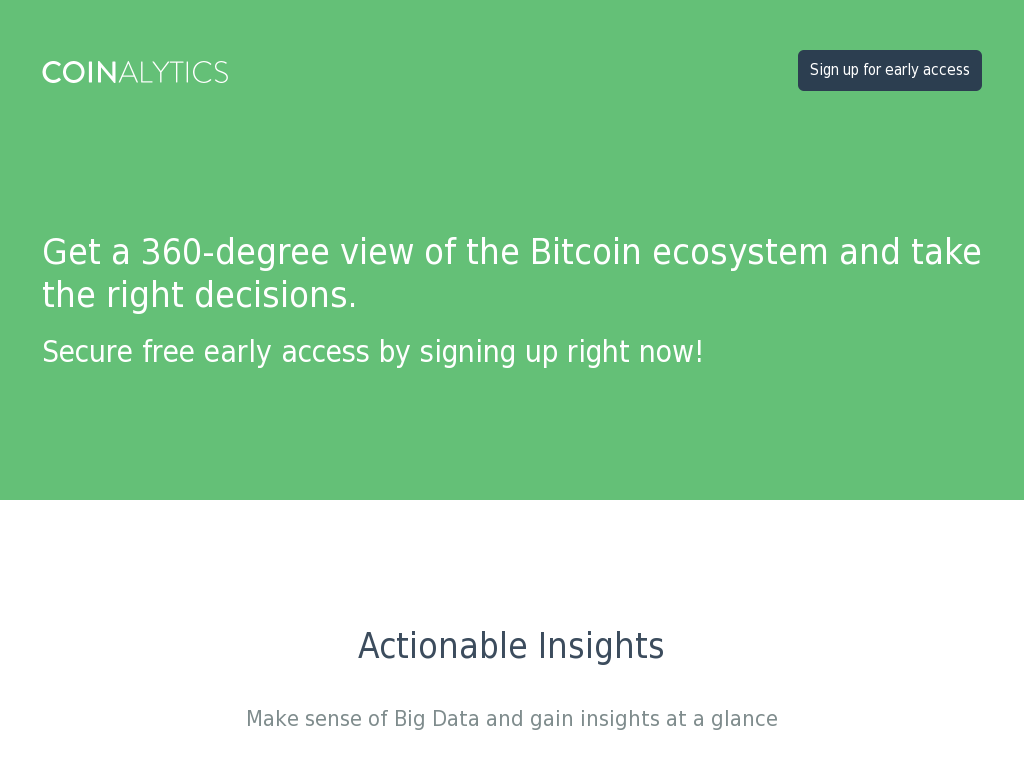 Coinalytics - Real-Time Analytics of Bitcoin Market