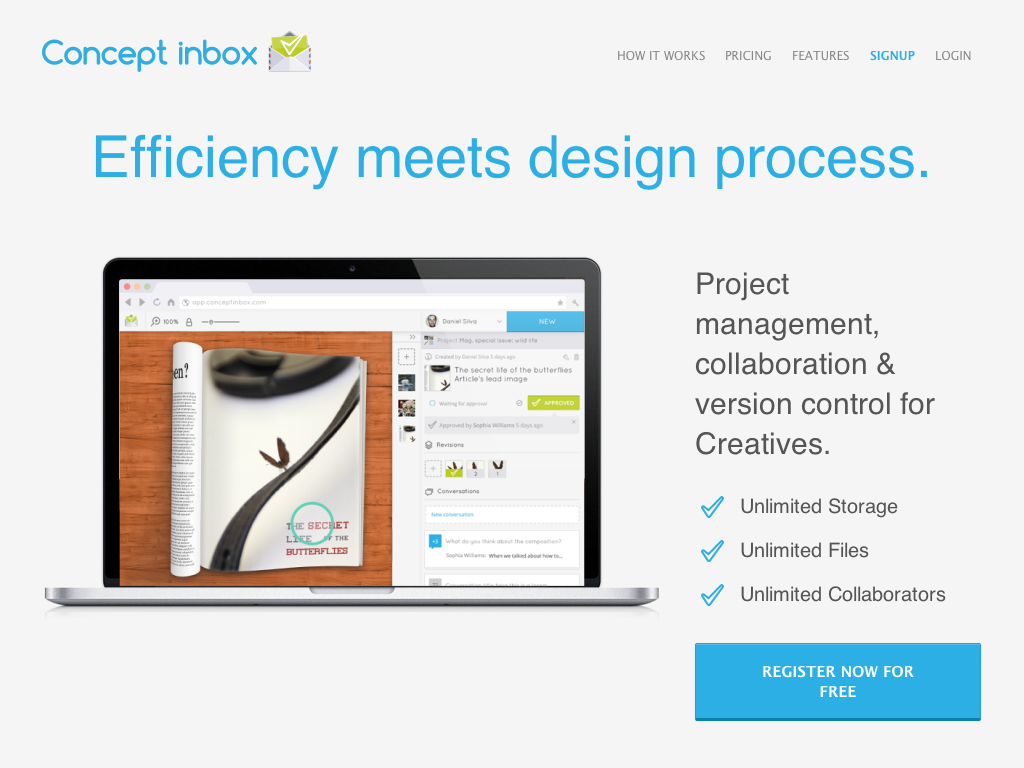 Concept Inbox - Real-Time Reviews of Your Creative Work