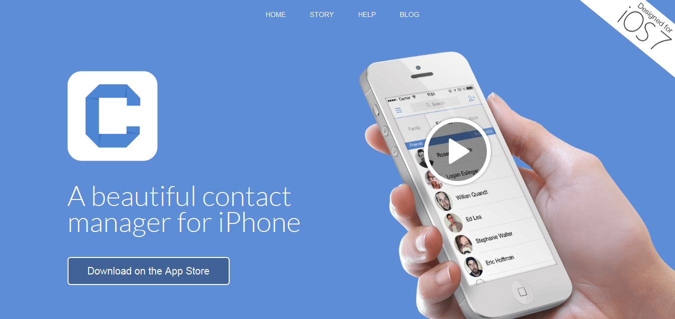 Connect App - Incredibly Beautiful Contact Manager for iPhone