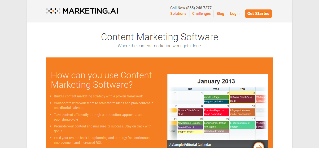 Content Marketing Software and Content Marketing Framework Marketing.AI