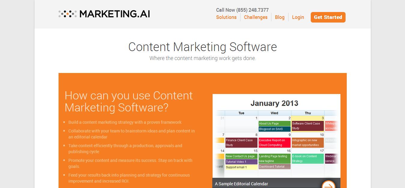 Content Marketing Software and Content Marketing Framework   Marketing.AI