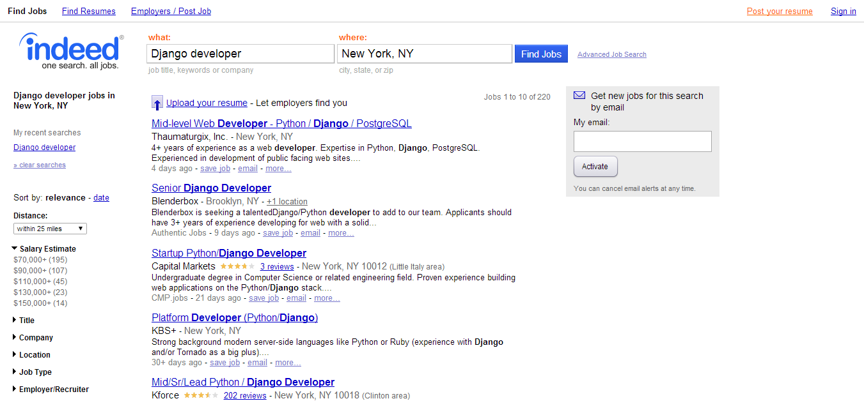 Django Developer Jobs - New York, NY - Indeed.com